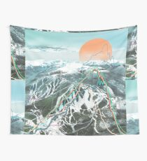 Ski Map Wall Tapestry