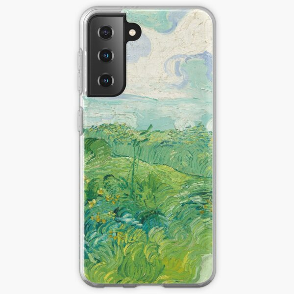 Vincent van Gogh, Green Wheat Fields, Auvers, 1890 Painting Samsung Galaxy Soft Case