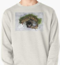 Christmouse  christmas mouse in a  snow house  Pullover