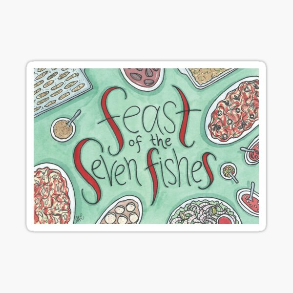 Feast of the Seven Fishes Sticker