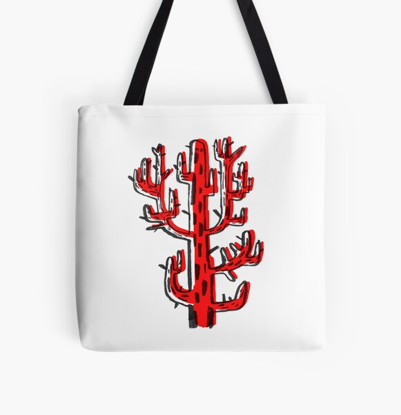 Cactus rojo All Over Print Tote Bag
