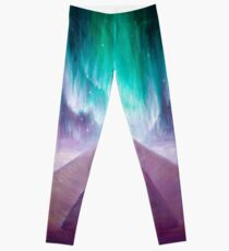 The aurora and the energy of the Cydonia pyramid on Mars Leggings