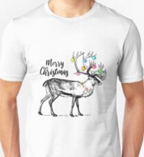 Christmas decorated deer - Merry Christmas Unisex T-Shirt