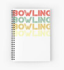 vintage bowling - retro bowling  Spiral Notebook