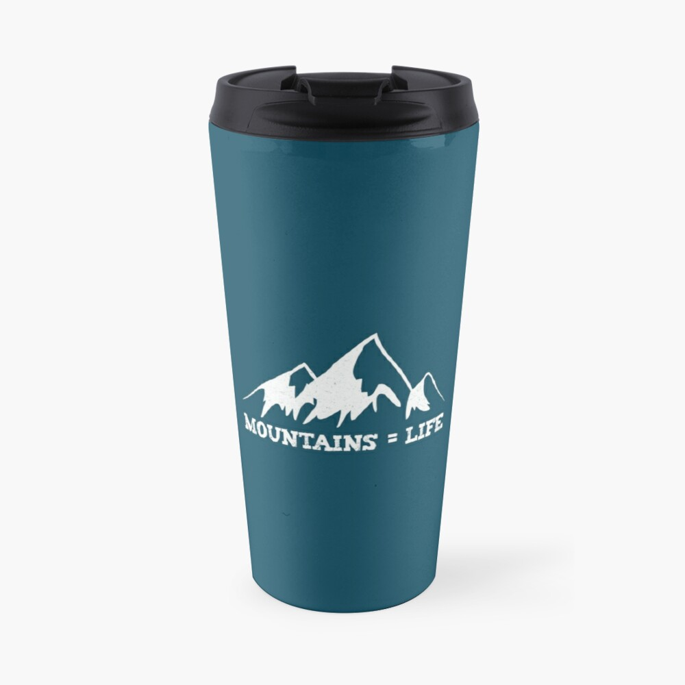 Mountains = life Travel Mug