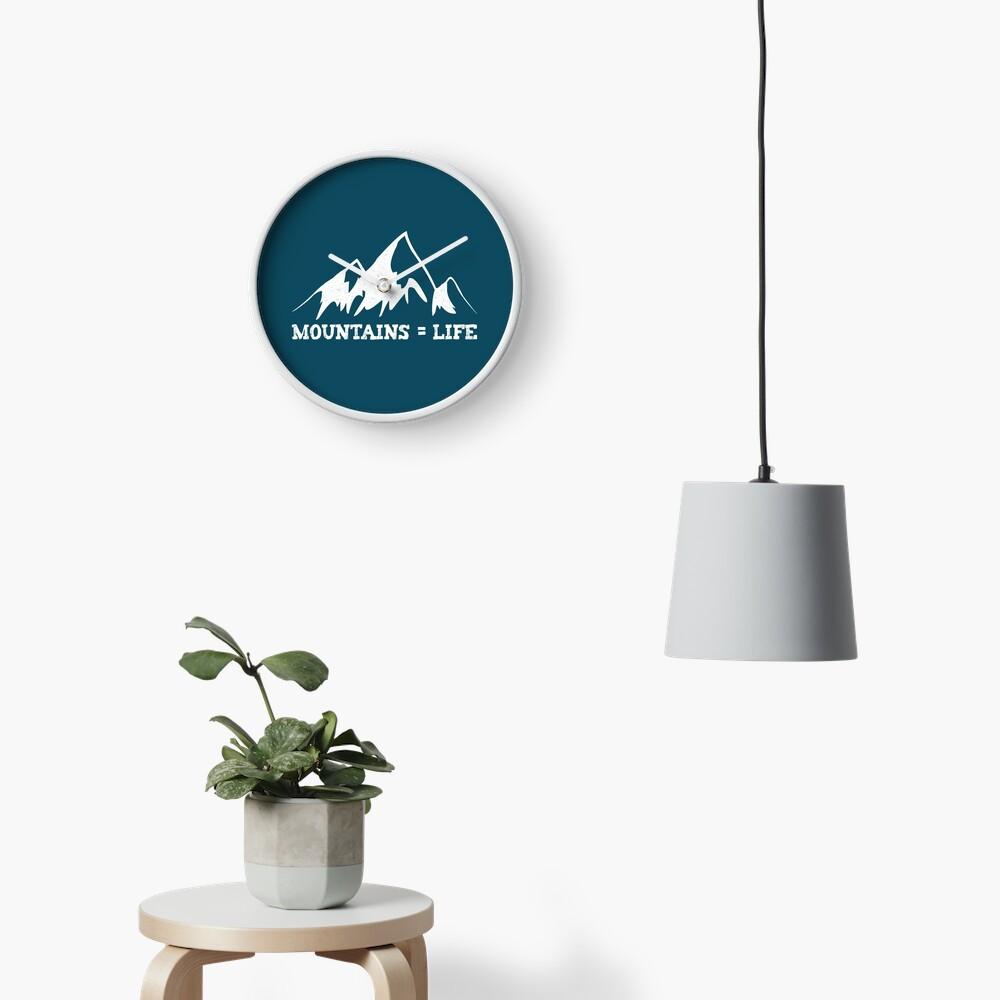Mountains = life Clock