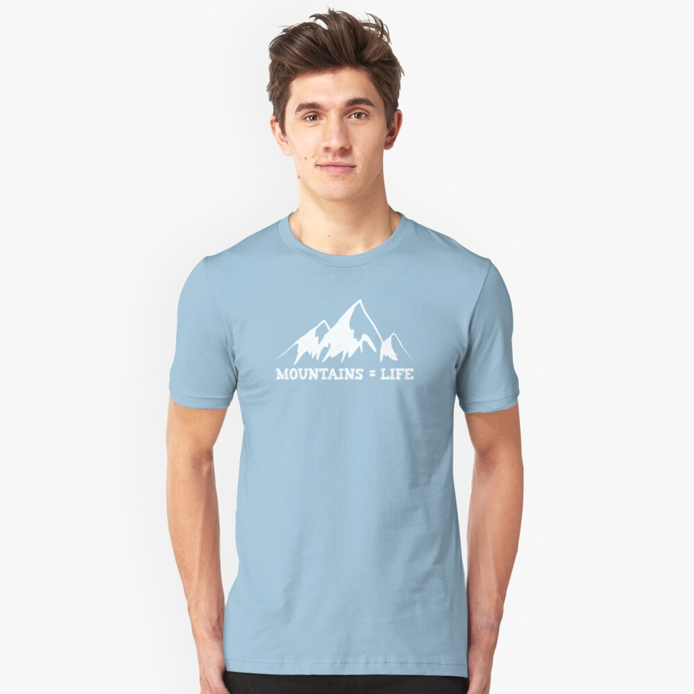 Mountains = life Slim Fit T-Shirt