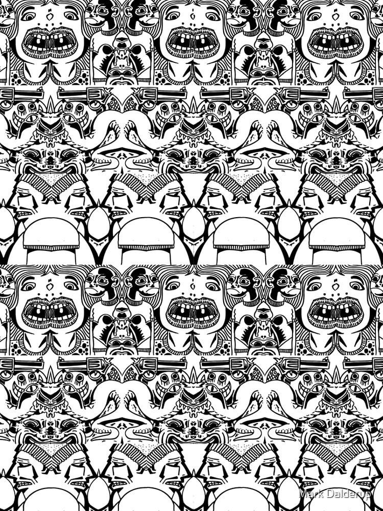 Weird doodle pattern by markdalderup
