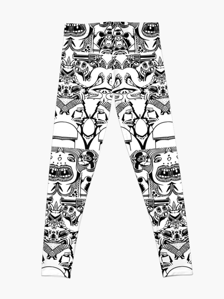Alternate view of Weird doodle pattern Leggings