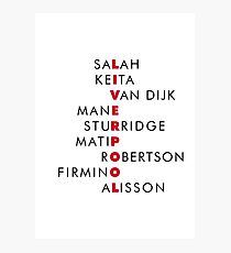 Liverpool FC Design - Salah Keita Van Dijk Mane Sturridge Matip Robertson Firmino Alisson | T Shirt | Poster | Phone Case | Mug and more Photographic Print