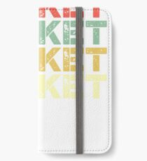 vintage cricket - retro cricket  iPhone Wallet/Case/Skin