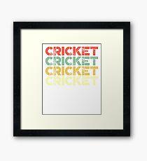 vintage cricket - retro cricket  Framed Print