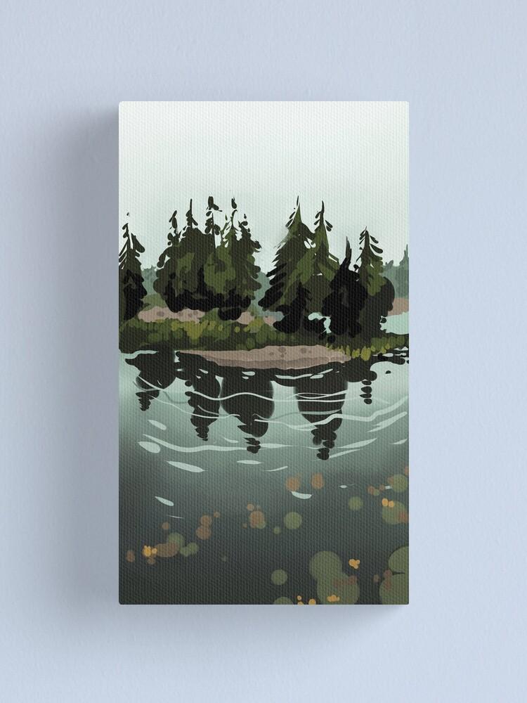 Alternate view of Lake Island Canvas Print
