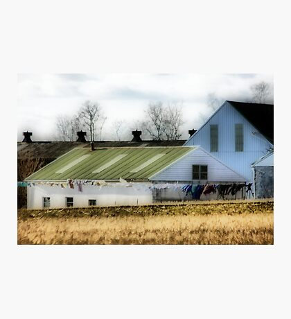Amish Clothes Dryer Photographic Print