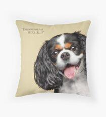 Curious and Cute Cavalier King Charles Spaniel Throw Pillow