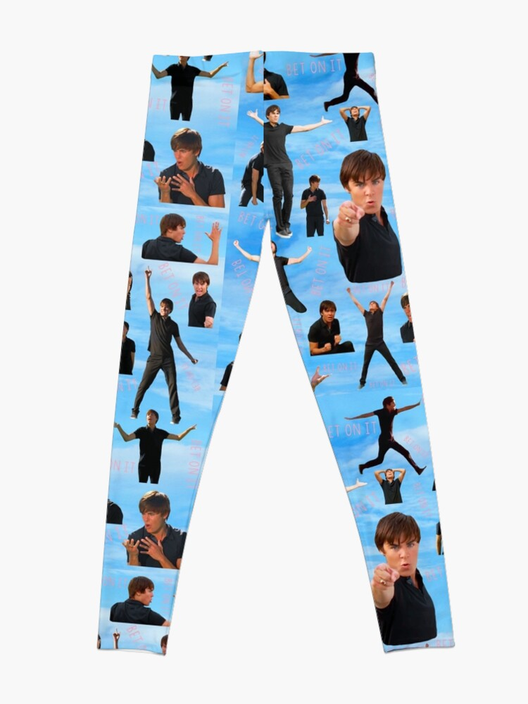Alternate view of Zac Efron Troy Bolton Bet On It  High School Musical Leggings