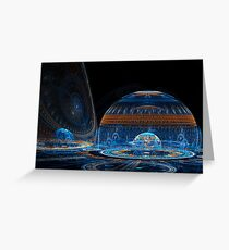 Space Igloos Greeting Card
