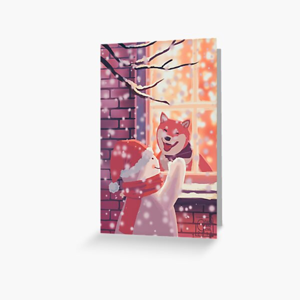 December (I'm so happy to see you!) Greeting Card