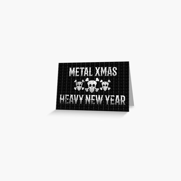 Heavy Metal Christmas Card For Metalheads Greeting Card