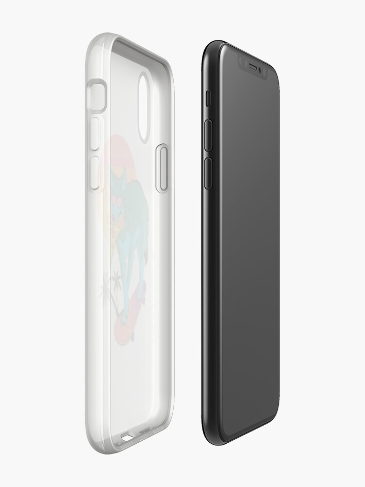 Alternate view of Vaporwave Coyote iPhone Cases & Covers