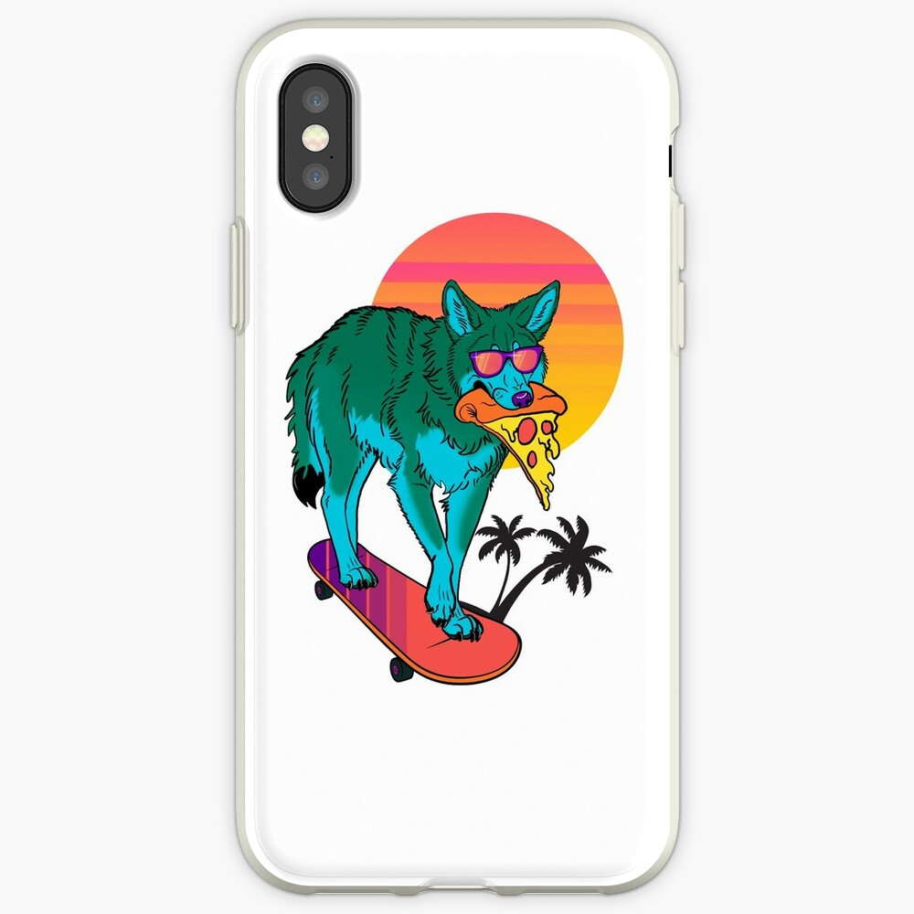 Vaporwave Coyote iPhone Cases & Covers