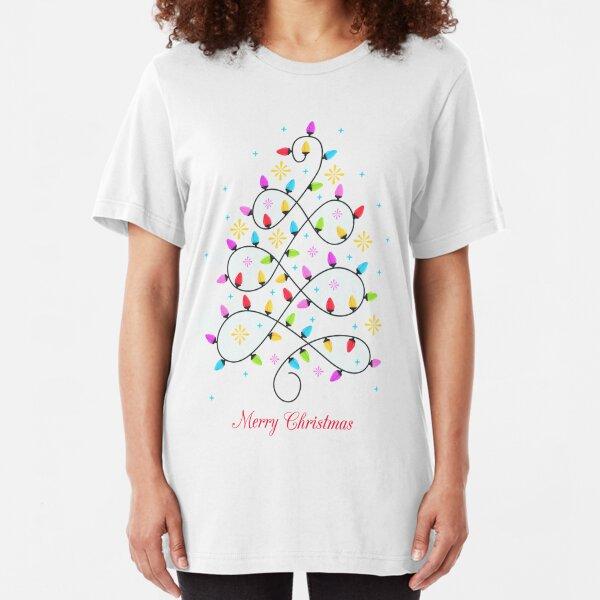 Christmas tee shirts - Christmas tree Slim Fit T-Shirt