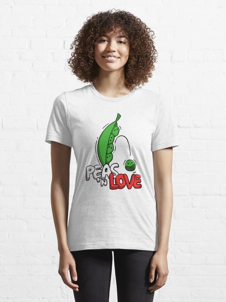 Alternate view of Peas 'n Love Essential T-Shirt