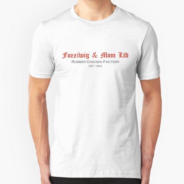 "Muppet Christmas Carol t-shirt ""Fozziwig & Mom Ltd Rubber Chicken Factory"" Slim Fit T-Shirt"