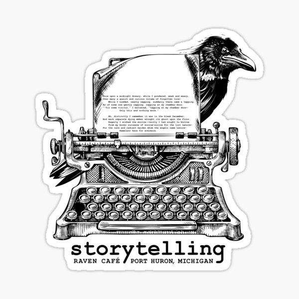 Storytelling (RAVEN CAFE) V2 Sticker
