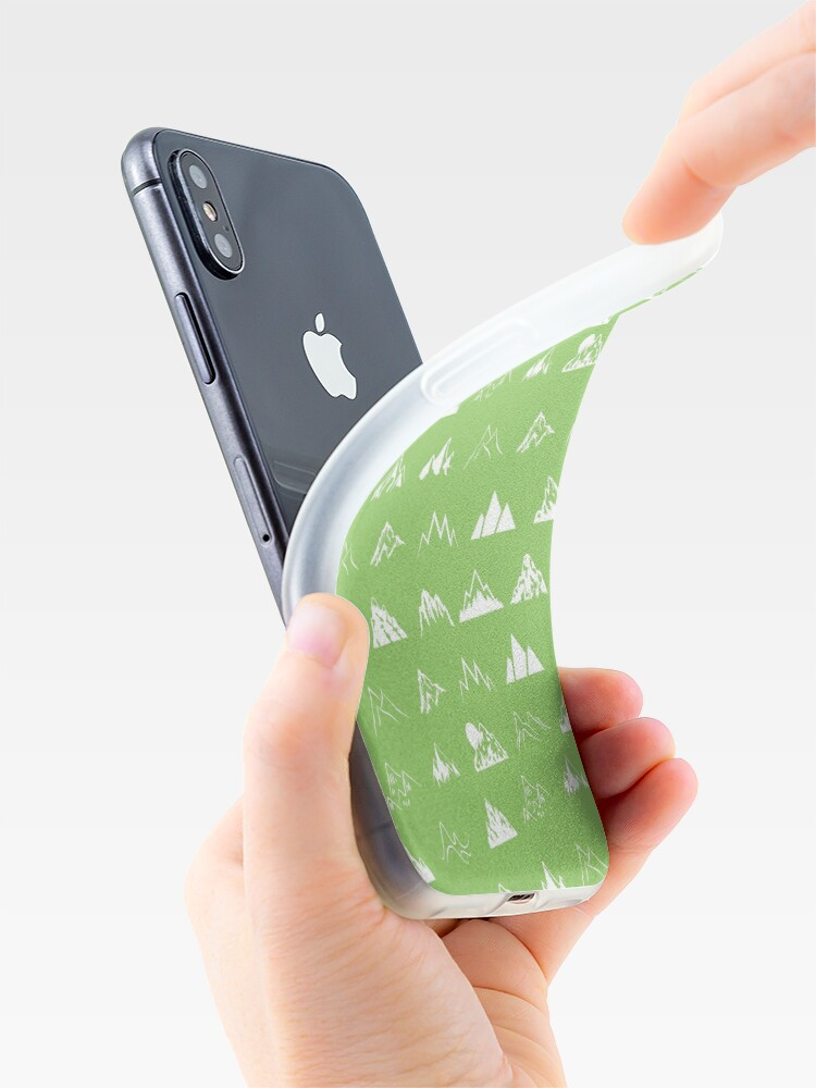 Alternate view of Mountains all over iPhone Case & Cover