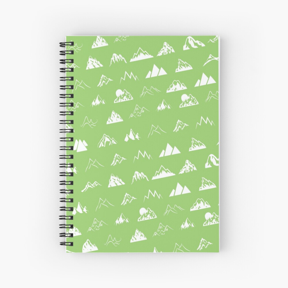 Mountains all over Spiral Notebook