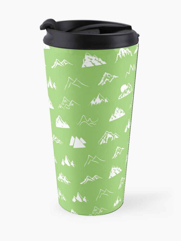 Alternate view of Mountains all over Travel Mug