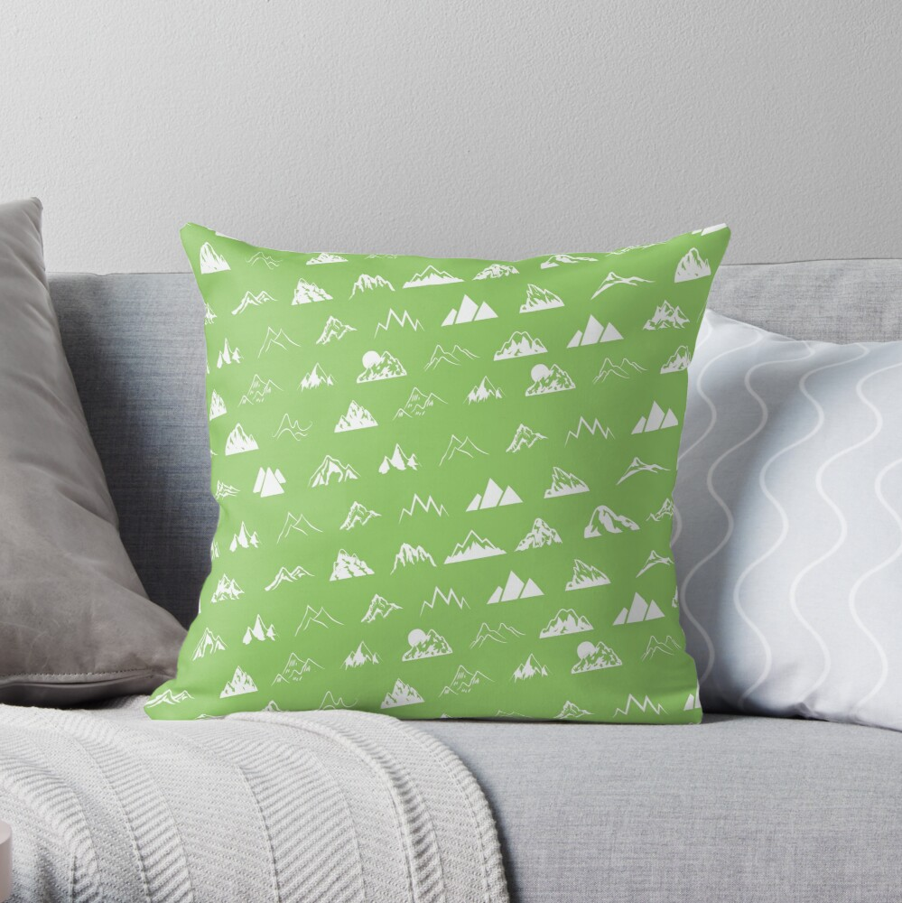 Mountains all over Throw Pillow