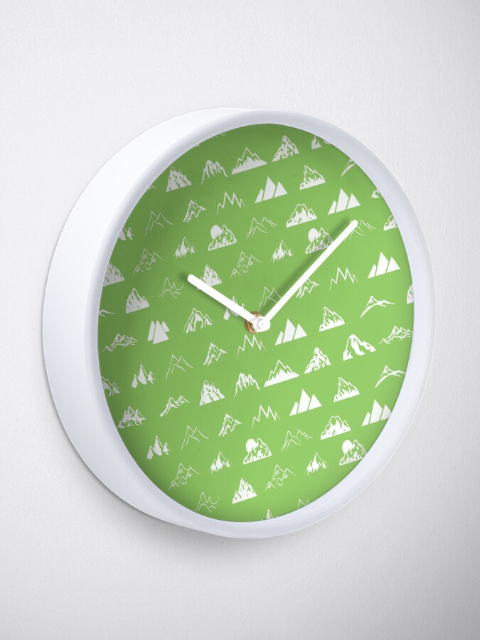 Alternate view of Mountains all over Clock