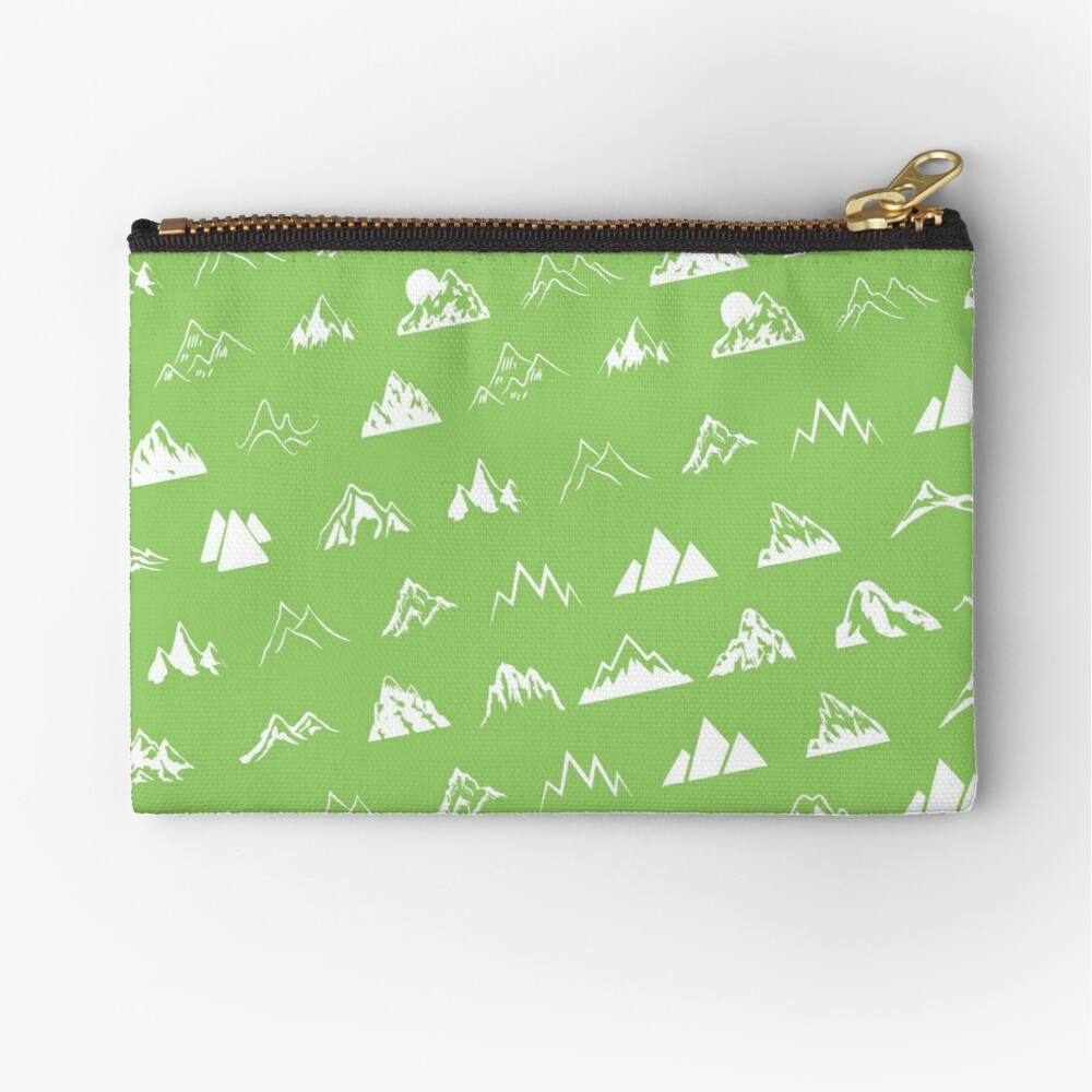 Mountains all over Zipper Pouch