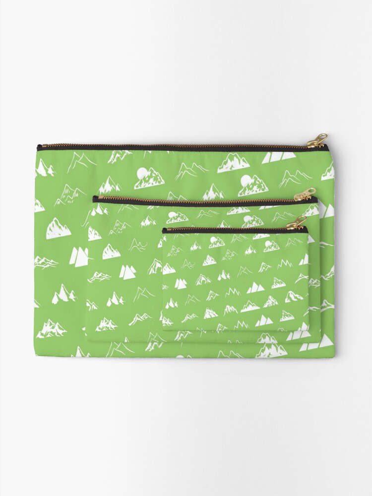 Alternate view of Mountains all over Zipper Pouch