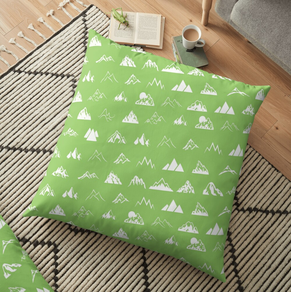 Mountains all over Floor Pillow