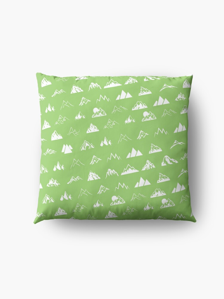 Alternate view of Mountains all over Floor Pillow