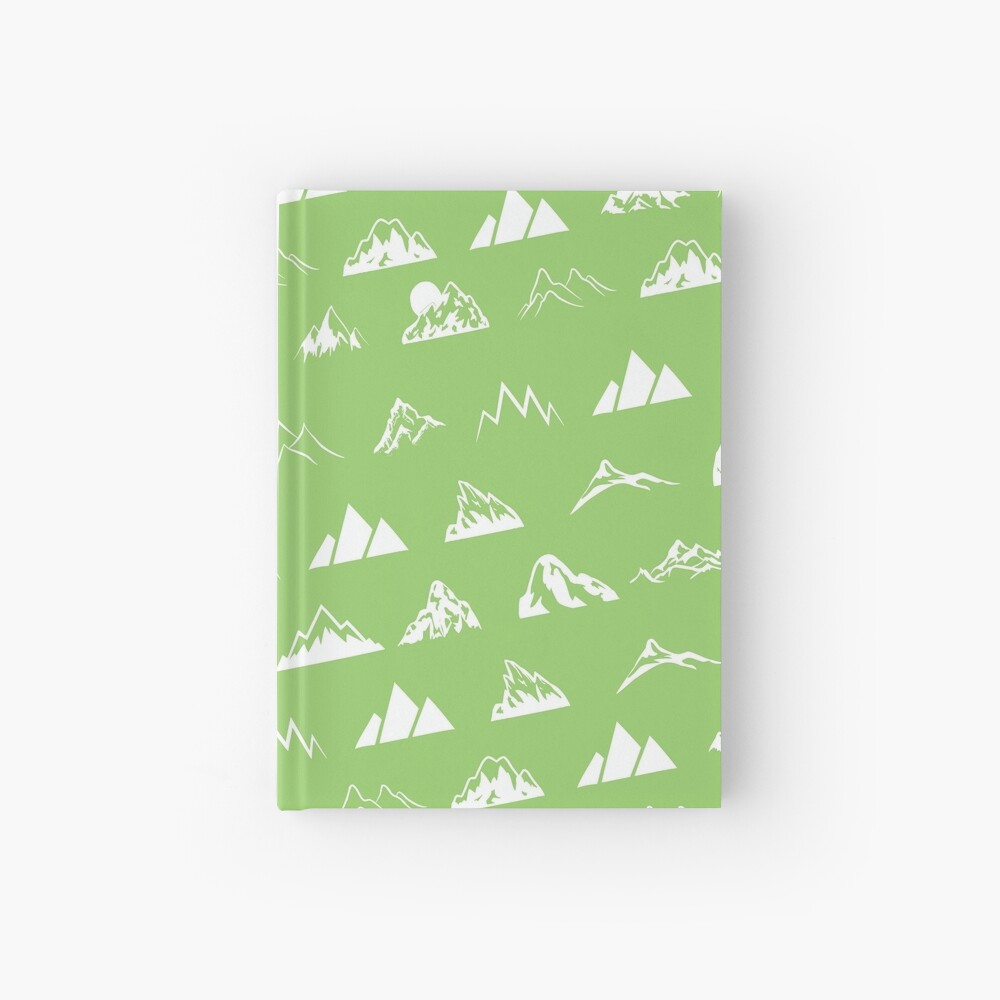 Mountains all over Hardcover Journal