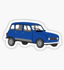 Renault 4 GTL Blue Sticker