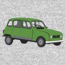 Renault 4 GTL Green by MangaKid