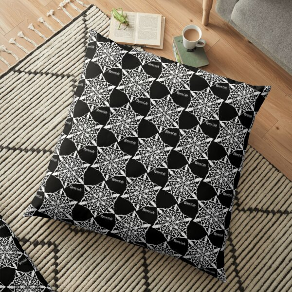Holiday Raven Snow Flake  Floor Pillow