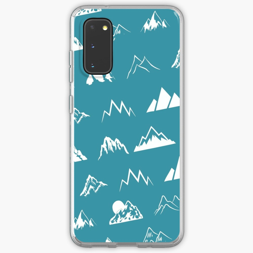 Mountains all over - turquoise Case & Skin for Samsung Galaxy