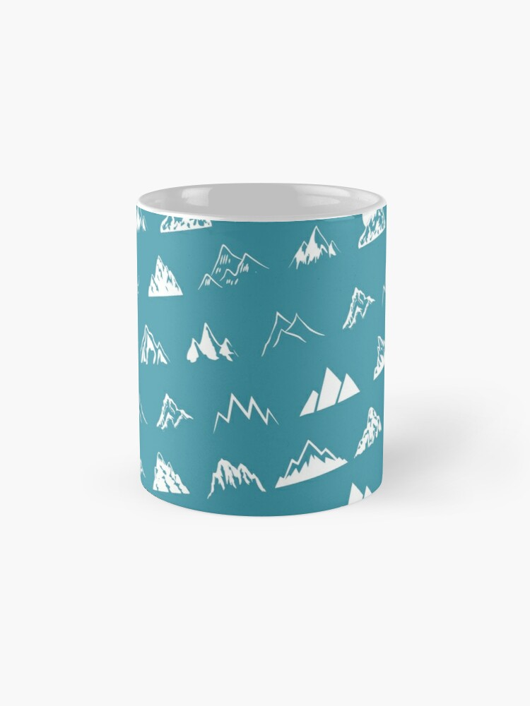 Alternate view of Mountains all over - turquoise Mug