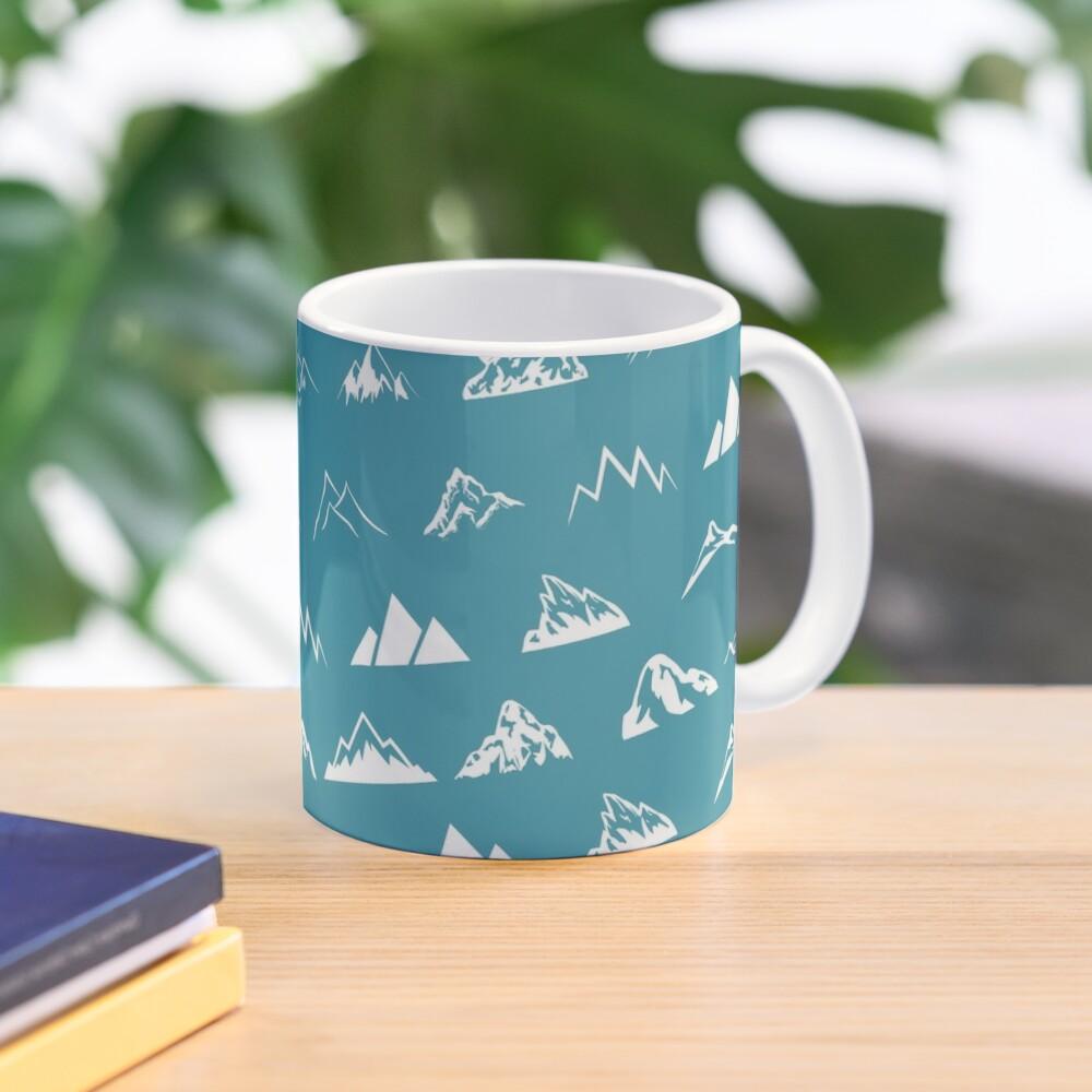 Mountains all over - turquoise Mug