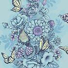 Beauty (eye of the beholder) - powder blue version by Lidija Paradinovic Nagulov