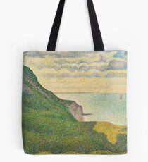 Georges Seurat, Seascape at Port-en-Bessin, Normandy, 1888 Painting Tote Bag