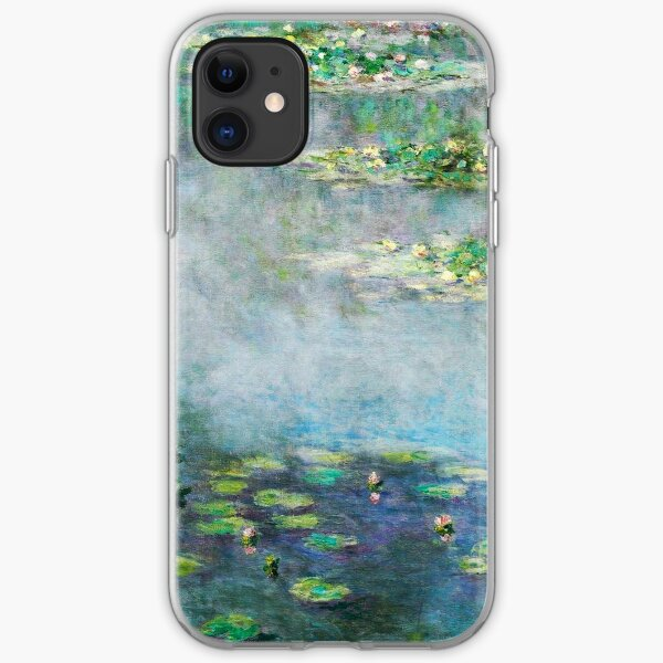 1906 Water Lilies oil on canvas.  Famous vintage fine art by Claude Monet. iPhone Soft Case