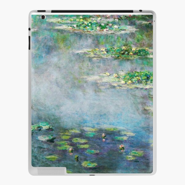 1906 Water Lilies oil on canvas.  Famous vintage fine art by Claude Monet. iPad Skin