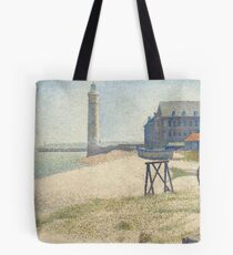 Georges Seurat, The Lighthouse at Honfleur, 1886 Painting Tote Bag